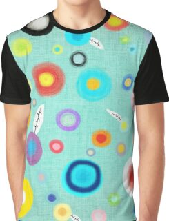 Colorful Happy Circles Graphic T-Shirt