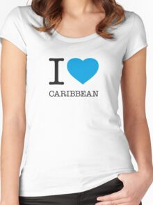 I ♥ CARIBBEAN Women's Fitted Scoop T-Shirt
