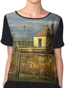 The Harbour At Maryport, Cumbria Chiffon Top
