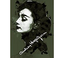 Audrey Hepburn Autograph Art Photographic Print