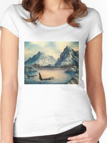 Mountain Orcas Women's Fitted Scoop T-Shirt