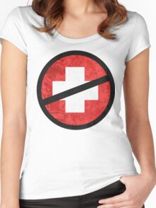 The Purge cross Women's Fitted Scoop T-Shirt