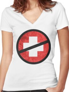 The Purge cross Women's Fitted V-Neck T-Shirt