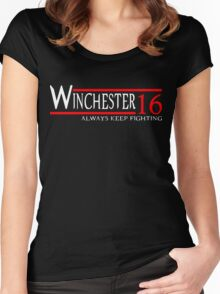 Winchester - Always keep fighting Women's Fitted Scoop T-Shirt