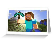 MINECRAFT CASE Greeting Card