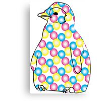 Polka Penguin Canvas Print