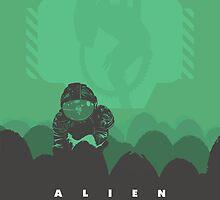 Ridley Scott's Alien Print Sigourney Weaver as Ripley by Creative Spectator
