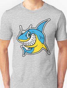 Smiling Blue Shark Cartoon Unisex T-Shirt
