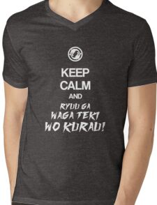 Keep calm and ryuu ga waga teki wo kurau! - Overwatch Mens V-Neck T-Shirt