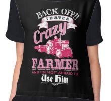 I a have a crazy farmer and i'm not afraid to use him shirt Chiffon Top