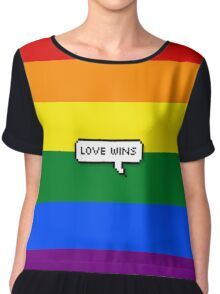 love wins #3 homosexual Women's Chiffon Top