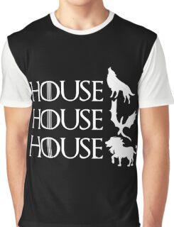 Game of Thrones - Stark - Targaryen - Lannister Graphic T-Shirt
