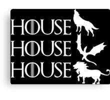 Game of Thrones - Stark - Targaryen - Lannister Canvas Print