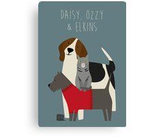 Daisy, Ozzy & Elkins Canvas Print