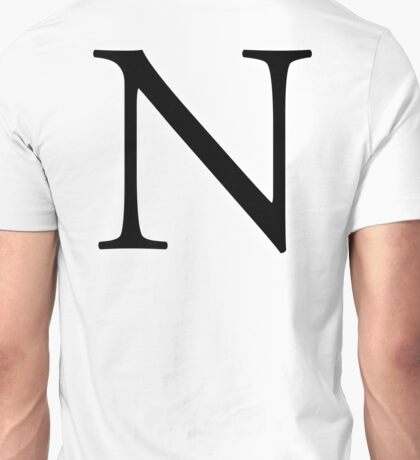 N, Alphabet, Letter, November, New York, A to Z, 14th Letter of Alphabet, Initial, Name, Letters, Tag, Nick Name Unisex T-Shirt