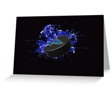 St Louis Blues Puck Greeting Card