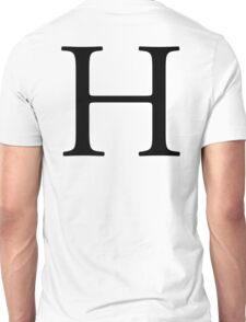 H, Alphabet Letter, Hotel, Henry, A to Z, 8th Letter of Alphabet, Initial, Name, Letters, Tag, Nick Name Unisex T-Shirt