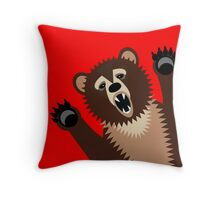 Big Bad Bear Throw Pillow