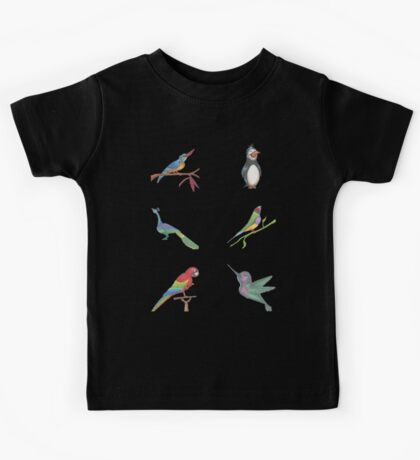 All the Birds Mini layout Kids Tee