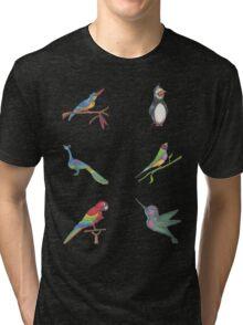 All the Birds Mini layout Tri-blend T-Shirt