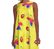 Ladybugs and Butterflies A-Line Dress