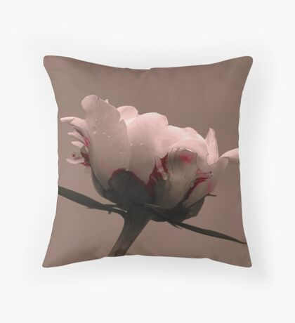 Peony Bud Throw Pillow