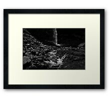 Follow Me Down to the Waterfall Framed Print