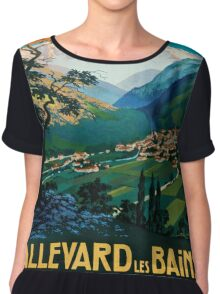 Allevard Les Bains, French Travel Poster Chiffon Top