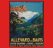 Allevard Les Bains, French Travel Poster One Piece - Short Sleeve