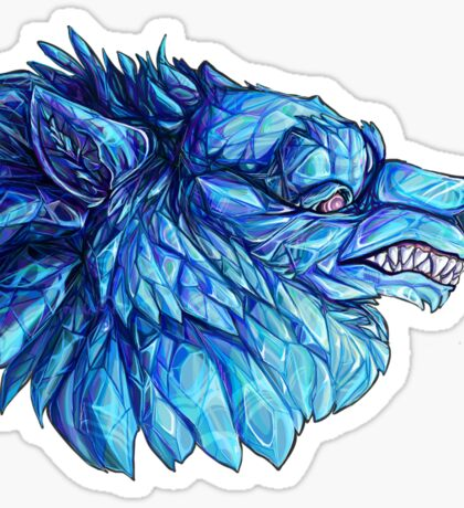 Crystal Werewolves: Cyan Sticker