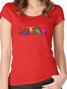 Keith Haring Dance Women's Fitted Scoop T-Shirt