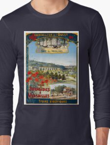 Ligne des Invalides a Versailles, French Travel Poster Long Sleeve T-Shirt