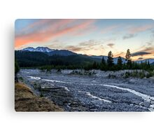 Mount St. Helens Sunset, South Smith Creek Trailhead  Canvas Print