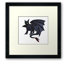 Toothless w/ Copics Framed Print