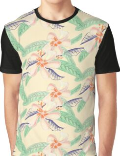 Plumeria Tropical Sensation Graphic T-Shirt