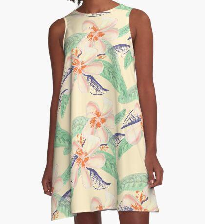 Plumeria Tropical Sensation A-Line Dress