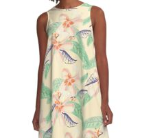 Plumeria Tropical Sensation A-Line Dress