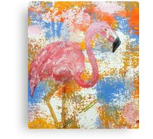 Domingo the Flamingo Canvas Print