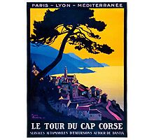 Le Tour Du Cap Corse, French Travel Poster Photographic Print