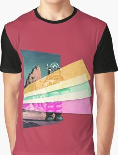 Vaporwave Space Robot Graphic T-Shirt
