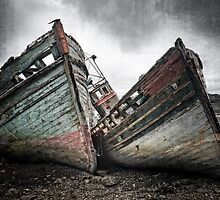 Shipwreck ! Abandoned Boats. Salen. Isle of Mull. Scotland. by photosecosse /barbara jones