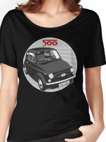 Fiat 500F black Women's Relaxed Fit T-Shirt