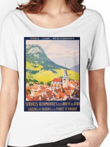 Services Automobiles, French Travel Poster Women's Relaxed Fit T-Shirt