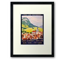 Services Automobiles, French Travel Poster Framed Print