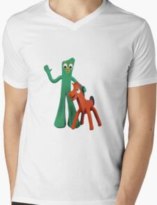 Gumby and Pokey Mens V-Neck T-Shirt