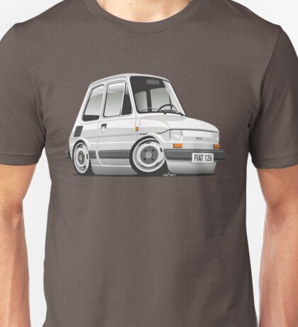 Fiat 126 caricature white Unisex T-Shirt