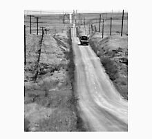B&W - Country Road with a Truck Unisex T-Shirt