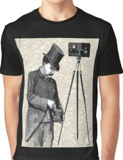 Victorian Steampunk Photographer Camera Graphic T-Shirt