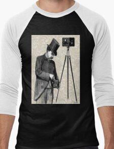 Victorian Steampunk Photographer Camera Men's Baseball ¾ T-Shirt