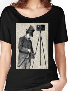 Victorian Steampunk Photographer Camera Women's Relaxed Fit T-Shirt